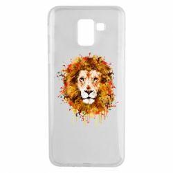 Чохол для Samsung J6 Lion Art - FatLine