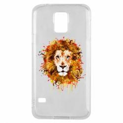 Чохол для Samsung S5 Lion Art - FatLine