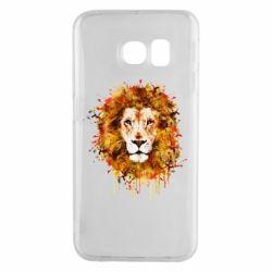 Чохол для Samsung S6 EDGE Lion Art - FatLine