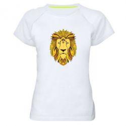 Женская спортивная футболка Lion art