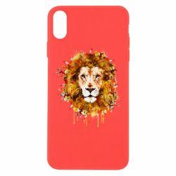 Чохол для iPhone Xs Max Lion Art - FatLine