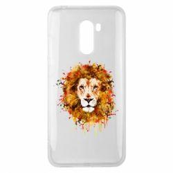 Чохол для Xiaomi Pocophone F1 Lion Art - FatLine