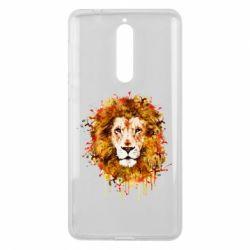 Чохол для Nokia 8 Lion Art - FatLine