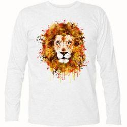 Футболка с длинным рукавом Lion Art - FatLine
