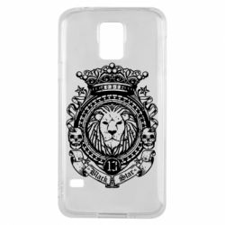 Чехол для Samsung S5 Lion Black Star
