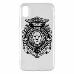 Чехол для iPhone X/Xs Lion Black Star