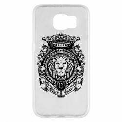 Чехол для Samsung S6 Lion Black Star