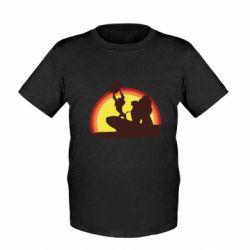 Дитяча футболка Lion king silhouette