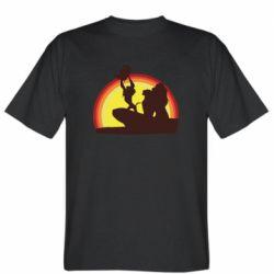 Мужская футболка Lion king silhouette