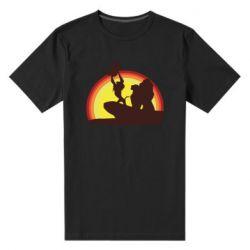 Мужская стрейчевая футболка Lion king silhouette