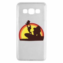 Чехол для Samsung A3 2015 Lion king silhouette