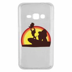 Чехол для Samsung J1 2016 Lion king silhouette