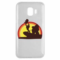 Чехол для Samsung J2 2018 Lion king silhouette