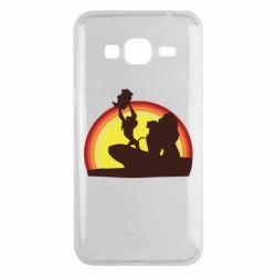 Чехол для Samsung J3 2016 Lion king silhouette