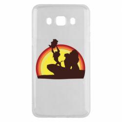 Чехол для Samsung J5 2016 Lion king silhouette