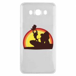 Чехол для Samsung J7 2016 Lion king silhouette