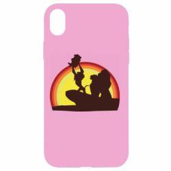 Чехол для iPhone XR Lion king silhouette