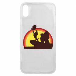 Чехол для iPhone Xs Max Lion king silhouette