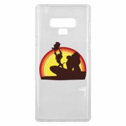 Чехол для Samsung Note 9 Lion king silhouette