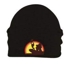 Шапка на флисе Lion king silhouette