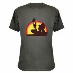 Камуфляжная футболка Lion king silhouette