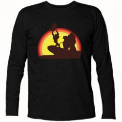 Футболка з довгим рукавом Lion king silhouette