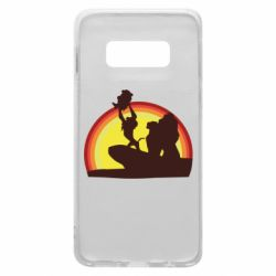 Чехол для Samsung S10e Lion king silhouette