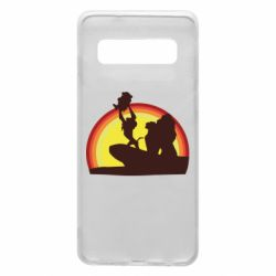 Чехол для Samsung S10 Lion king silhouette