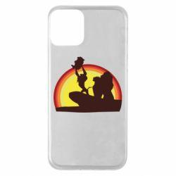 Чехол для iPhone 11 Lion king silhouette