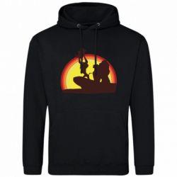 Мужская толстовка Lion king silhouette