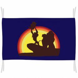 Флаг Lion king silhouette