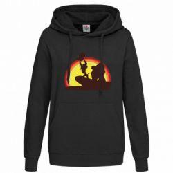 Женская толстовка Lion king silhouette