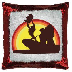 Подушка-хамелеон Lion king silhouette