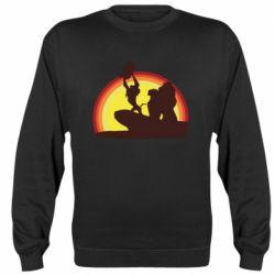 Реглан (свитшот) Lion king silhouette