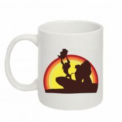 Кружка 320ml Lion king silhouette