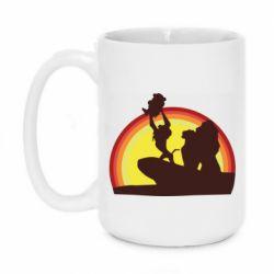 Кружка 420ml Lion king silhouette