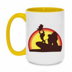 Кружка двухцветная 420ml Lion king silhouette