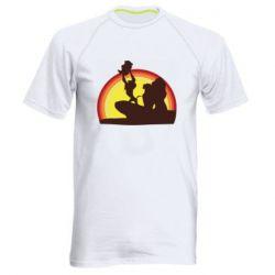 Мужская спортивная футболка Lion king silhouette