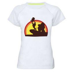 Женская спортивная футболка Lion king silhouette