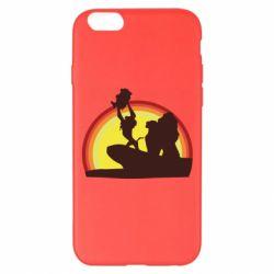 Чехол для iPhone 6 Plus/6S Plus Lion king silhouette