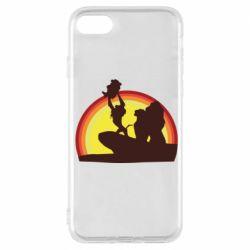 Чехол для iPhone 7 Lion king silhouette