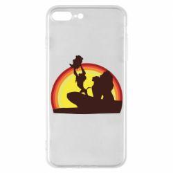 Чехол для iPhone 7 Plus Lion king silhouette