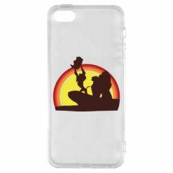 Чохол для iphone 5/5S/SE Lion king silhouette