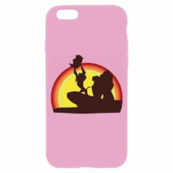 Чехол для iPhone 6/6S Lion king silhouette