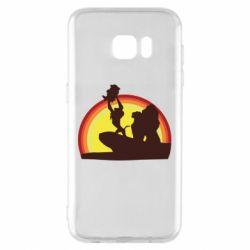 Чехол для Samsung S7 EDGE Lion king silhouette