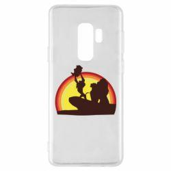 Чехол для Samsung S9+ Lion king silhouette