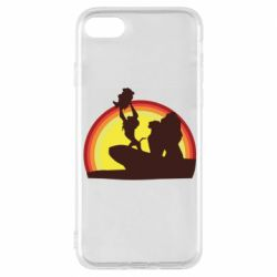 Чехол для iPhone 8 Lion king silhouette