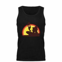 Мужская майка Lion king silhouette