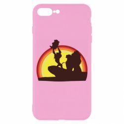 Чехол для iPhone 8 Plus Lion king silhouette