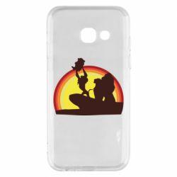 Чехол для Samsung A3 2017 Lion king silhouette